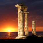 Apollo Temple Rhodes Greece